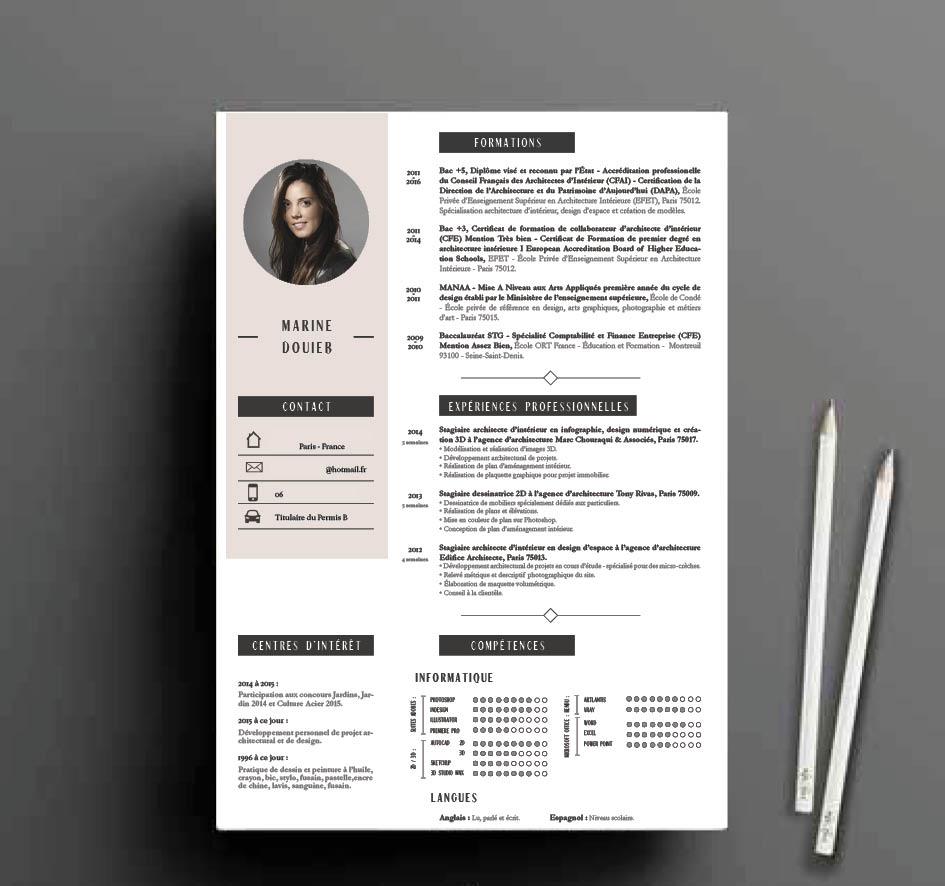 mise en page d u0026 39 un cv design